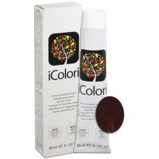 Vopsea de par profesionala permanenta - 5.6 - Hair Color Cream - iColori - 90 ml