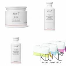 Kit pentru disciplinarea si stralucirea parului + borseta - Keratin Smoothing - Keune - 4 produse cu 24.96% discount