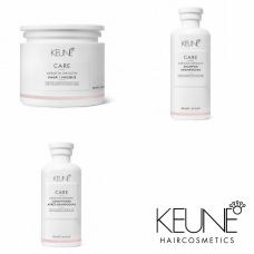 Kit pentru disciplinare si stralucire - Keratin Smoothing - Keune - 3 produse