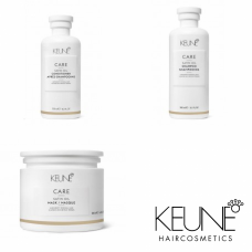 Kit pentru stralucire - Satin Oil - Keune - 3 produse cu 15% discount