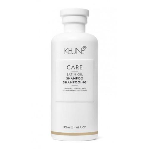 Șampon De Strălucire și Hrănire Pentru Păr Deshidratat - Satin Oil Shampoo - Keune - 300 Ml