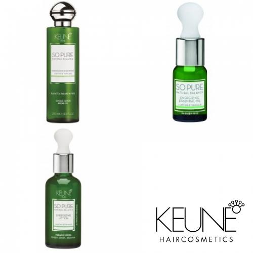 Kit Energizant Pentru Stimularea Creșterii Părului (fără Sulfați și Parabeni) - So Pure Energizing - Keune - 3 Produse Cu 15% Discount