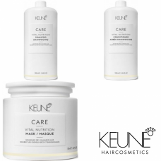 Kit mare pentru par degradat - Vital Nutrition - Keune - 3 produse cu 15% discount