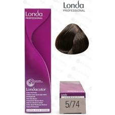 Vopsea profesionala permanenta - 5/74 - Londacolor Permanent - Londa Professional - 60 ml