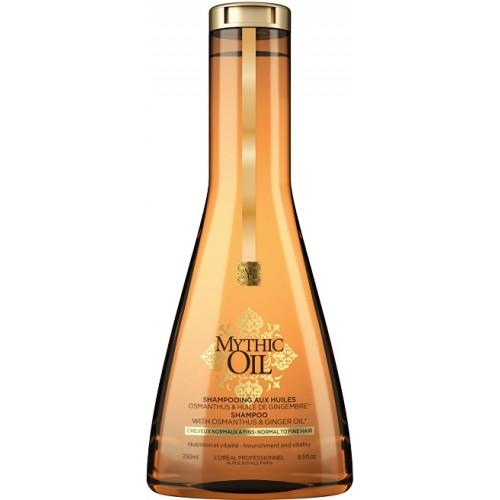 Sampon Hranitor Pentru Par Fin - Shampoo With Osmanthus & Ginger - Mythic Oil - L'oreal Professionnel - 250 Ml