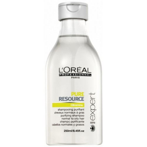 Sampon Pentru Par Gras - Pure Resource Shampoo - Serie Expert - L'oreal Professionnel - 250 Ml