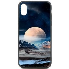 "Husa eleganta ultra-subtire de lux pentru iPhone X, patern - Luxury ultra-thin case for iPhone X, patern ""Silver Moon"""