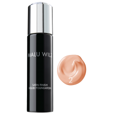 Fond de ten cu efect satinat - Nr. 02 - Satin Finish Liquid Foundation - MALU WILZ - 30 ml
