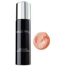 Fond de ten cu efect satinat - Nr. 15 - Satin Finish Liquid Foundation - MALU WILZ - 30 ml