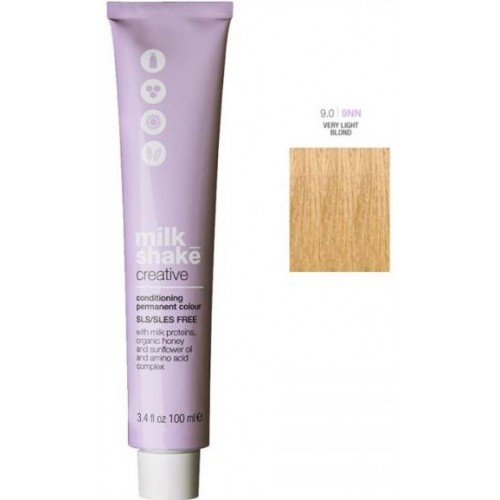 Vopsea Permanenta Profesionala - 9.0 - Conditioning Permanent Color - Creative - Milk Shake - 100 Ml
