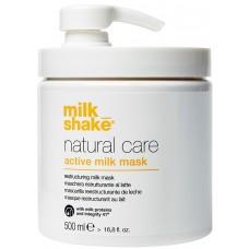 Masca reconstructoare pe baza de proteine de lapte pentru par uscat si deteriorat - Active Milk Mask - Natural Care - Milk Shake - 500 ml