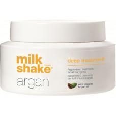 Tratament intensiv de reconstructie pentru toate tipurile de par - Argan Deep Treatment - Organic Argan Oil - Milk Shake - 200 ml