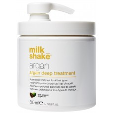 Tratament intensiv de reconstructie pentru toate tipurile de par - Argan Deep Treatment - Organic Argan Oil - Milk Shake - 500 ml