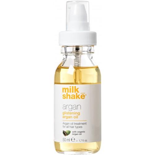 Tratament Hidratant Cu Ulei De Argan Pentru Toate Tipurile De Par - Glistening Argan Oil - Organic Argan Oil - Milk Shake - 50 Ml