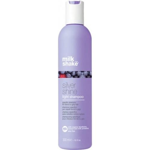 Sampon Pigmentat Anti-ingalbenire Pentru Parul Blond, Carunt Sau Decolorat - Light Shampoo - Silver Shine - Milk Shake - 300 Ml
