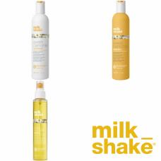 Kit pentru ingrijirea parului blond - Sweet Chamomile - Milk Shake - 3 produse cu 7% discount
