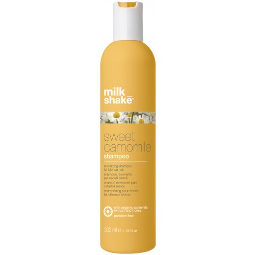 Sampon Hidratant Si Revitalizant Pentru Par Blond - Shampoo - Sweet Camomile - Milk Shake - 300 Ml