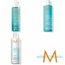 Kit pentru par cret - Curl Line - Moroccanoil - 3 produse cu 15% discount