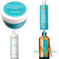 Kit mic pentru hidratare light - sampon + balsam + masca + tratament - Hydration - Moroccanoil - 4 produse cu 37% discount