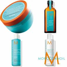 Kit reparator mic - sampon, balsam, masca si ulei - Repair Line - Moroccanoil - 4 produse cu 20% discount