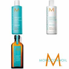 Kit sampon + balsam pentru volum + ulei tratament - Volume Line - Moroccanoil - 3 produse cu 15.93% discount