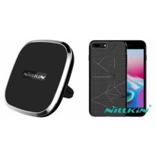 Kit auto încarcare wireless pentru IPhone 8 Plus - Car Charger - Nillkin - 2 produse cu 30.91% discount