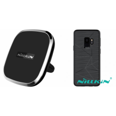 Kit auto încarcare wireless pentru Samsung Galaxy S9+ - Car Charger - Nillkin - 2 produse cu 30.91% discount