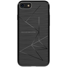 Husa magnetică din silicon mat anti amprentă - Magic Case for Apple IPhone 8, black - Nillkin