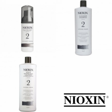 Kit mare pentru par natural - sampon + balsam + tratament - Hair System 2 - Nioxin - 3 produse cu 7% discount