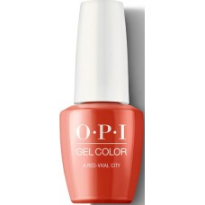 Lac-gel de unghii semipermanent - A Red-Vival City - Gel Color - OPI - 15 ml