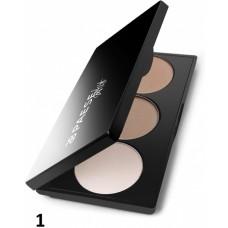 Paleta profesionala trio de make-up pentru conturarea fetei - Artist Contouring Palette - Paese - Nr. 1