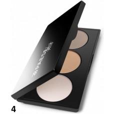 Paleta profesionala trio de make-up pentru conturarea fetei - Artist Contouring Palette - Paese - Nr. 4