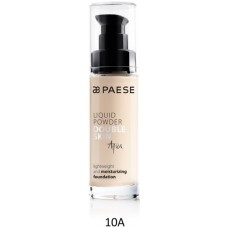 Fond de ten hidratant cu vitamine (ten uscat) - Liquid Powder Double Skin Aqua - Paese - 30 ml - Nr. 10A