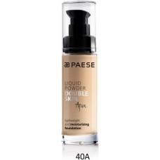 Fond de ten hidratant cu vitamine (ten uscat) - Liquid Powder Double Skin Aqua - Paese - 30 ml - Nr. 40A