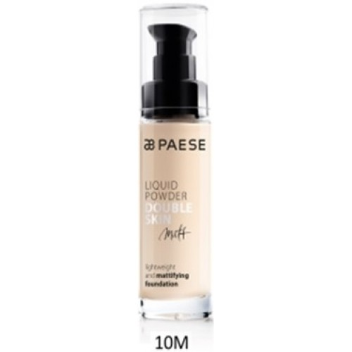 Fond De Ten Matifiant (ten Gras Si Mixt) - Liquid Powder Double Skin Matt - Paese - 30 Ml - Nr. 10m