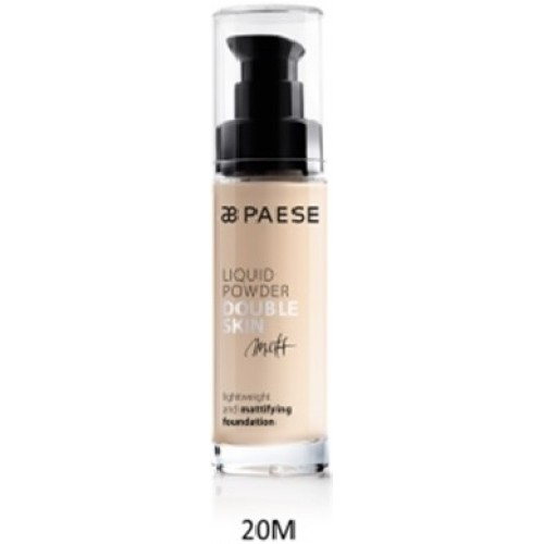 Fond De Ten Matifiant (ten Gras Si Mixt) - Liquid Powder Double Skin Matt - Paese - 30 Ml - Nr. 20m