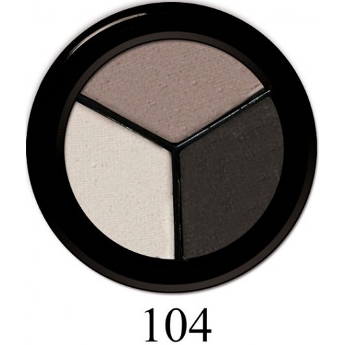 Fard Pentru Ochi Mat In Trei Culori - Luxus Trio Matte Eyeshadow - Paese - 5 Gr - Nr. 104