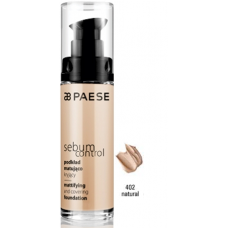 Fond de ten matifiant pe baza de apa si silicon - Sebum Control Foundation - Paese - 30 ml - Nr. 402
