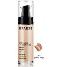 Fond de ten matifiant pe baza de apa si silicon - Sebum Control Foundation - Paese - 30 ml - Nr. 403
