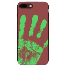 Carcasa termosensibila pentru iPhone 7/8 Plus, Rosu-maroniu - Thermosensitive case for iPhone 7/8 Plus, Red-Brown