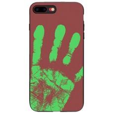 Carcasa termosensibila pentru iPhone X, Rosu-maroniu - Thermosensitive case for iPhone X, Red-Brown