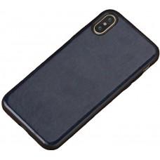 Carcasa subtire din piele lucrata manual pentru Iphone 7/8 Plus, Albastru - Thin-leather hand made case for Iphone 7/8 Plus, Blue