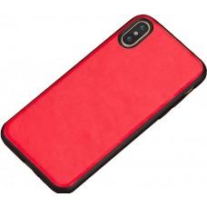 Carcasa subtire din piele lucrata manual pentru Iphone 7/8 Plus, Rosu intens - Thin-leather hand made case for Iphone 7/8 Plus, Intens Red