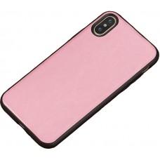 Carcasa subtire din piele lucrata manual pentru Iphone 7/8 Plus, Roz - Thin-leather hand made case for Iphone 7/8 Plus, Pink