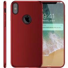 Husa ultra-subtire din fibra de carbon pentru iPhone X, Rosu - Ultra-thin carbon fiber case for iPhone X, Red
