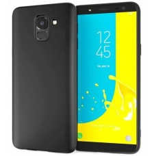 Husa ultra-subtire din fibra de carbon pentru Samsung Galaxy J6 (2018), Negru - Ultra-thin carbon fiber case for Samsung Galaxy J6 (2018), Black