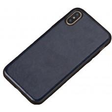 Carcasa subtire din piele lucrata manual pentru Iphone 6/6S Plus, Albastru - Ultra-thin leather skin handmade case for iPhone 6/6S Plus, Dark Blue