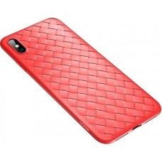 Husa Ultra-Subtire Model Weave pentru iPhone X, Rosu - Ultra-thin weave model case for iPhone X, Red