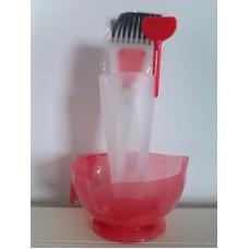 Kit pentru vopsit - bol + 2 pensule + pahar gradat - Vitality's