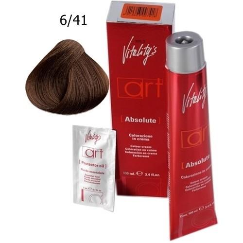 Vopsea De Par Profesionala - Vitality's - 6.41 Ash Copper Dark Blonde - Art Absolute - 100 Ml